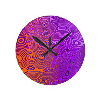 Design psycho orange PUR-polarizes Round Wall Clocks