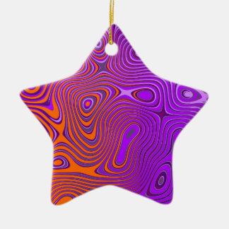 Design psycho orange PUR-polarizes Ornaments