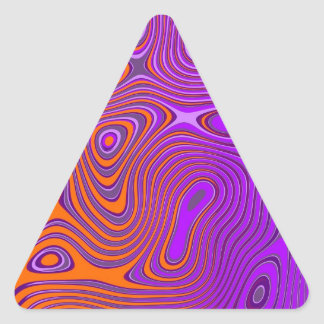 Design psycho orange PUR-polarizes Triangle Stickers