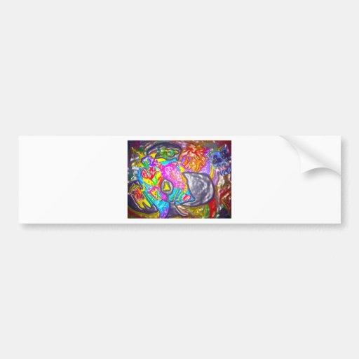 DESIGN purple for art lovers Car Bumper Sticker