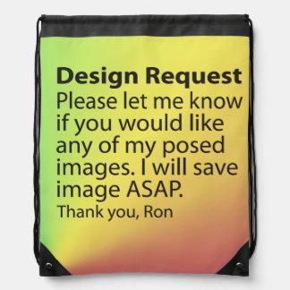 Design Request Drawstring Backpack