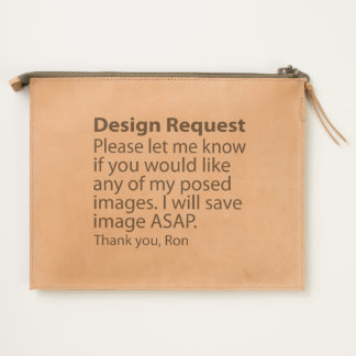 Design Request Leather Travel Pouch