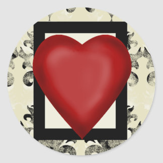 Design-royal-lonely-heart Classic Round Sticker