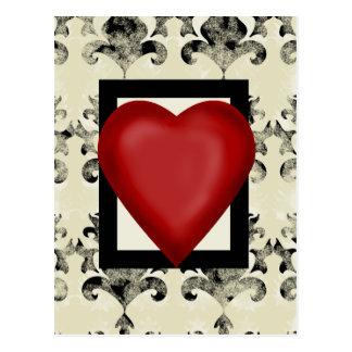 Design-royal-lonely-heart Postcard