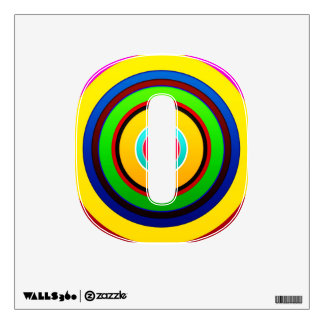 Design Simple Round Circle Shape Style Fashion Str Wall Sticker