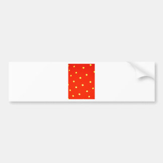 Design Simple round circle Style Fashion Dots Polk Bumper Sticker