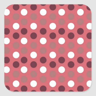 Design Simple round circle Style Fashion Dots Polk Square Sticker