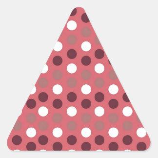 Design Simple round circle Style Fashion Dots Polk Triangle Sticker
