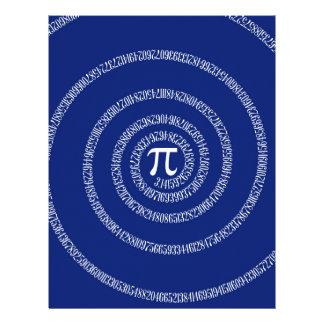 Design Spiral for Pi on Navy Blue Flyer