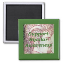 design to raise awareness of bipolar disorder magnet