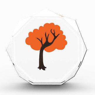 Design tree Gold on white Acrylic Award