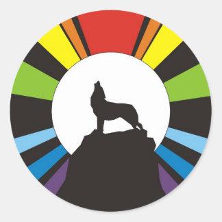 Design Tribe of Benyamin Classic Round Sticker