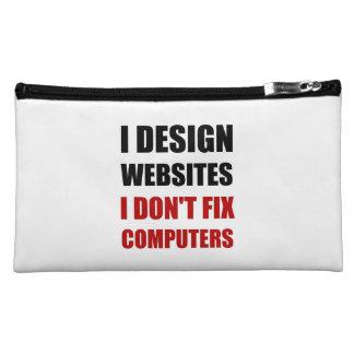 Design Websites Not Fix Computers Makeup Bag