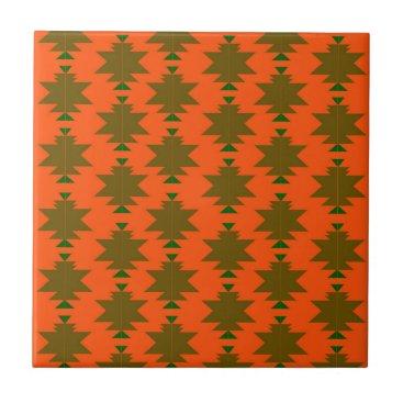 Aztec Themed Design wild aztecs eco ceramic tile