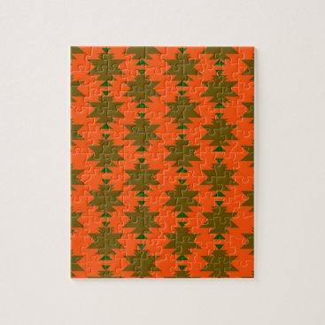 Aztec Themed Design wild aztecs eco jigsaw puzzle