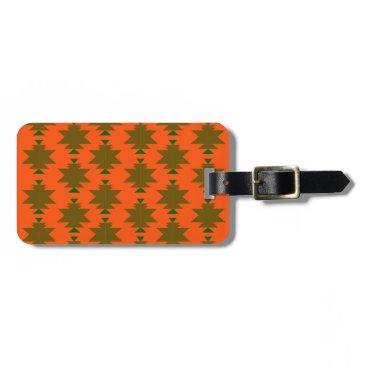 Aztec Themed Design wild aztecs eco luggage tag