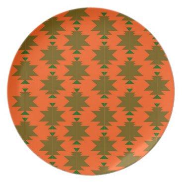 Aztec Themed Design wild aztecs eco melamine plate