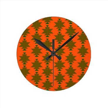 Design wild aztecs eco round clock