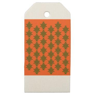 Aztec Themed Design wild aztecs eco wooden gift tags