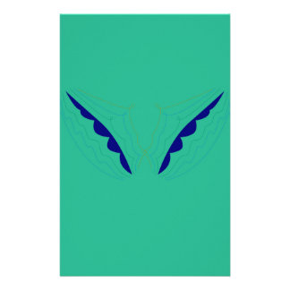Design wings green eco stationery