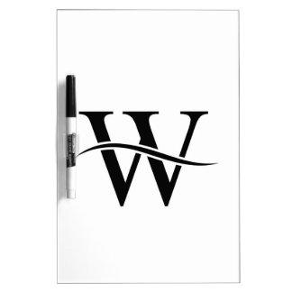 Design with alphabet W Dry Erase Board