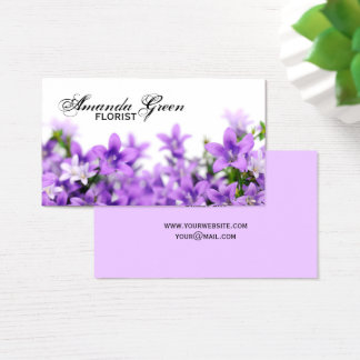 Design with bluebells business card