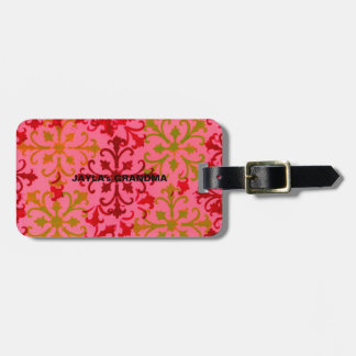 Design with name bag tag