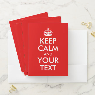 Design You Own Keep Calm and Carry On Pocket Folder