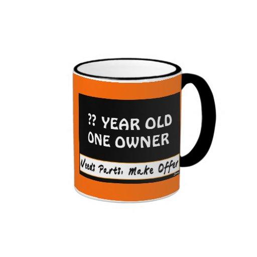 Design Your Birthday Sign Coffee Mugs