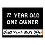 Design Your Birthday Sign Postcards
