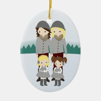 Design Your Family Customizable Christmas Ornament