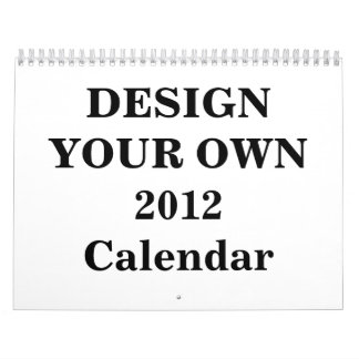 Design Your Own 2012 Calendar (Two Page Medium)