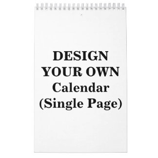 Design Your Own 2016 Calendar (Single Page)
