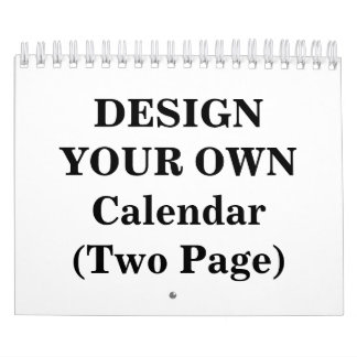 Design Your Own 2017 Calendar (Two Page)