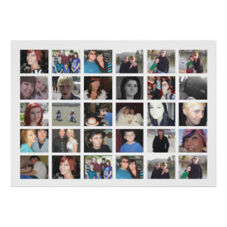 Design Your Own 30 Picture Instagram Photo Collage Poster