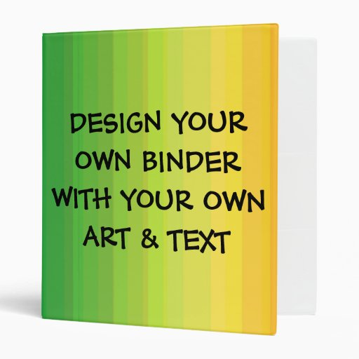 DESIGN YOUR OWN 3 RING BINDER