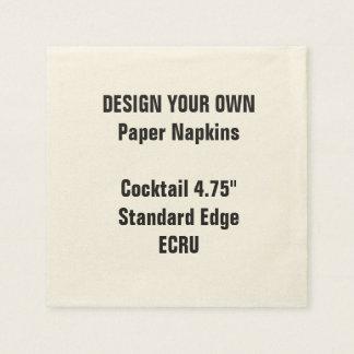 "Design Your Own 4.75"" ECRU Cocktail Napkins Standa"