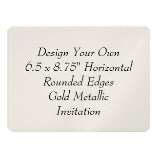 Design Your Own 6.5 x 8.75 Gold Metallic V18 6.5x8.75 Paper Invitation Card