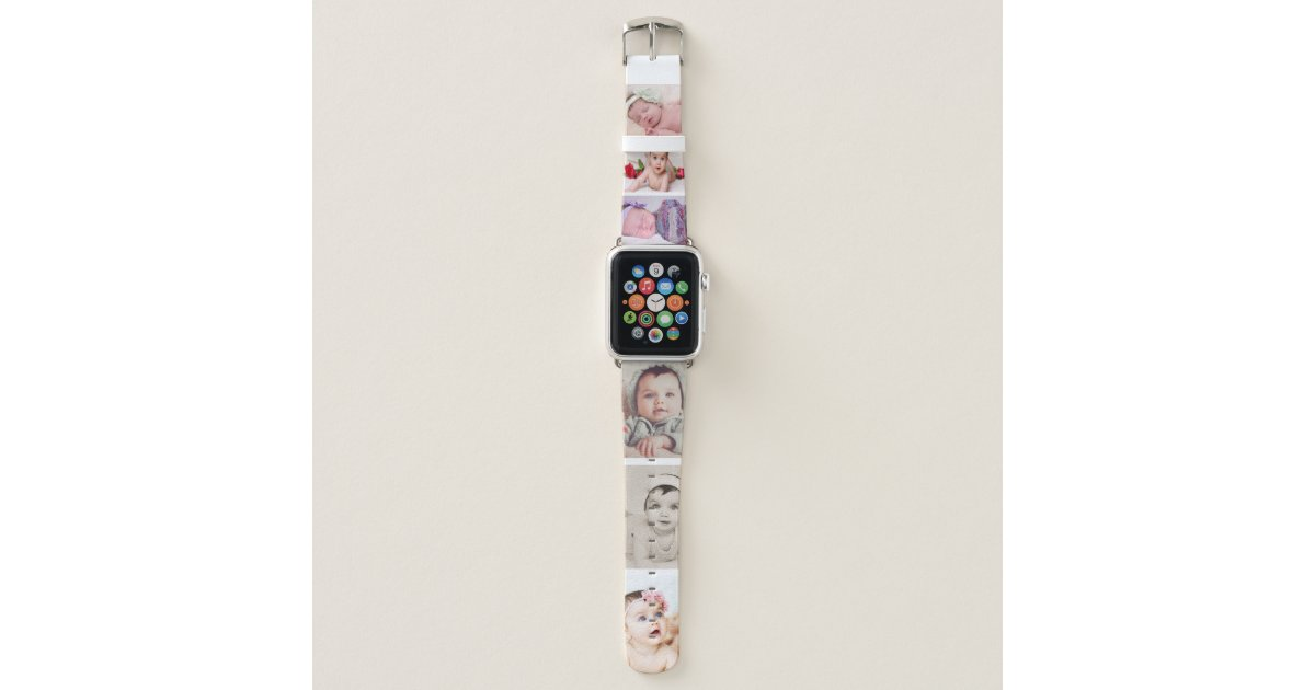 design your own 6 photo template personalized apple watch band