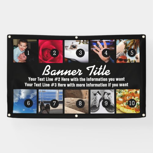 Design Your Own Banner ten Images with text easily