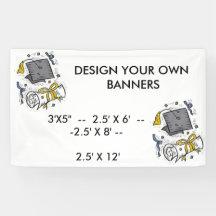 Design your own banners for GRADUATION PARTIES, ET