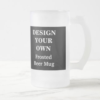 Design Your Own Beer Mug - Black and White