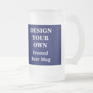 Design Your Own Beer Mug - Blue and White