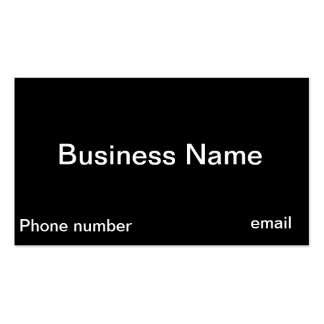 Design Your Own Black Businesscards Double-Sided Standard Business Cards (Pack Of 100)