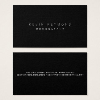 design your own black pro standard business card