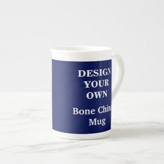 Design Your Own Bone China Mug - Blue Tea Cup