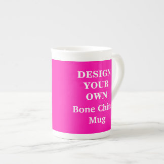 Design Your Own Bone China Mug - Bright Pink Tea Cup