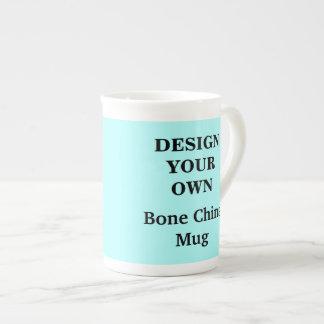 Design Your Own Bone China Mug - Light Blue Tea Cup