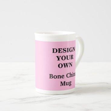 Coffee Themed Design Your Own Bone China Mug - Light Pink