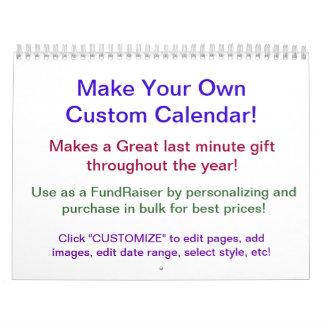 Design Your Own Calendar ~ Make Your Own!